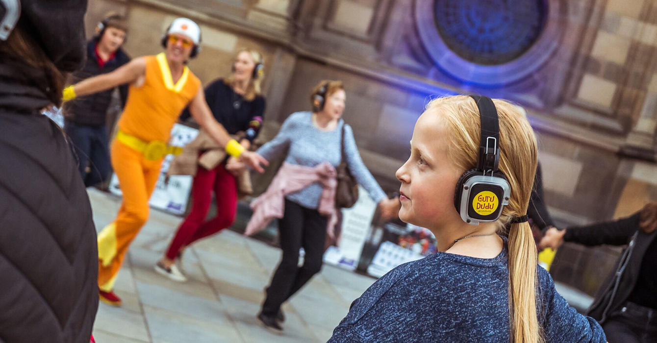 Kiddo Silent Disco tours with Guru Dudu